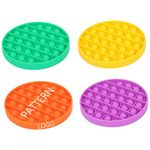 Round Bubble Push Popper Anxiety Relief Autism Toy