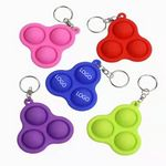 Custom Silicone 3Bubbles Simple Dimple Fidget Popper Therapy Toys