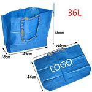 Custom Medium Polypropylene Grocery Tote Shopping Bag