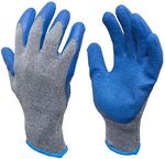 Custom Rubber Latex Double Coated Work Gloves for Construction, gardening gloves, heavy duty Cotton Blend