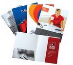 Custom Super Saver Custom Paper Presentation Folder w/ Glued Pockets