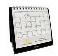 Wire Bound Easel Desk Calendar
