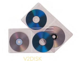 4 Disk Vinyl CD Holder