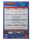 Custom Large 12 Month Single Sheet Wall Calendar