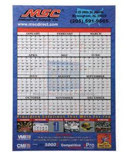 Large 12 Month Single Sheet Wall Calendar
