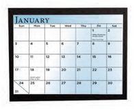 Chipboard Easel Desk Calendar w/ Padded Easel