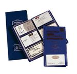 Custom Business Card Case/File Document Holder (Holds 96 Cards)