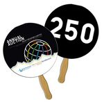 Custom Round Auction Sandwiched Hand Fan Full Color