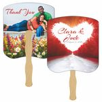 Custom Path to Love Hand Fan Full Color (2 Sides)