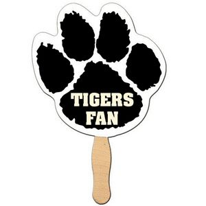 Custom Printed Paw Print Stock Shaped Paper Fans