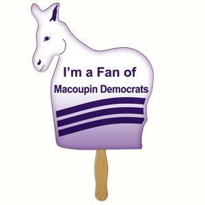 Custom Printed Democratic Campaign Donkey Fans