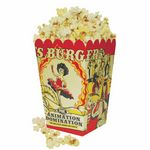 Custom Full Color Small Scoop Style Popcorn Box
