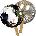 Custom Circle w/ Eye Cutout Fast Hand Fan(2 Sides) 1 Day