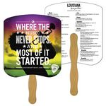 Custom Bread Slice Hand Fan Full Color (2 Sides)