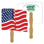 Custom Wavy Flag Hand Fan Full Color (2 Sides)