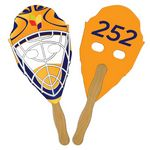 Hockey Mask Auction Hand Fan Full Color