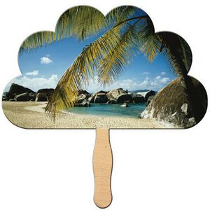 Custom Designed Cloud Stock Shaped Paper Fans!