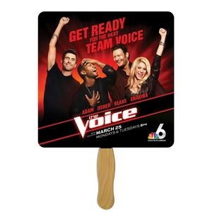 Square Fast Hand Fan (1 Side) 1 Day