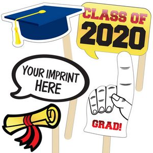 Custom Imprinted Graduation Themed Paper Fans!