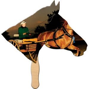 Custom Printed Horse Stock Shaped Paper Fans