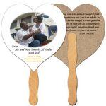Custom Heart Recycled Hand Fan