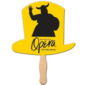 Custom Printed Top Hat Stock Shaped Paper Fans