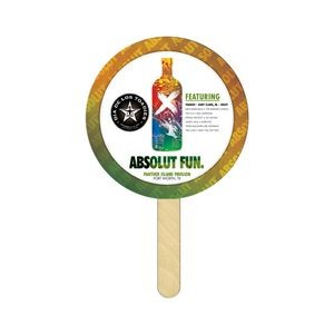 Round Mini Hand Fans Full Color (1 Side)