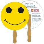 Custom Smiley Face Fast Hand Fan (2 Sides) 1 Day