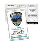 Custom Child ID Finger Print Kit with Dental Chart (English)