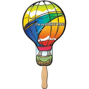 Custom Printed Balloon Stock Shaped Paper Fans