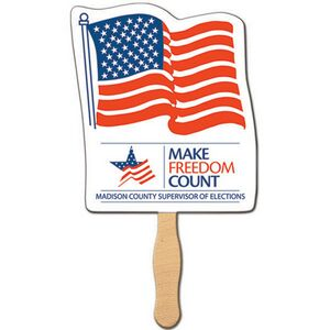 Custom Printed Flag Stock Shaped Paper Fans