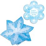 Custom Snowflake Gift Card Holder/Holiday Card w/ Full Color Graphics Both Sides