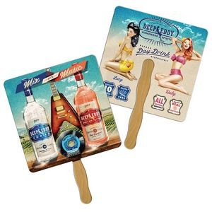 Square Hand Fan Full Color (2 Sides)