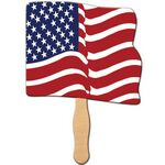 Custom Wavy USA Flag Hand Fan