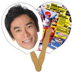 Racket/Guitar Hand Fan Full Color (2 Sides)