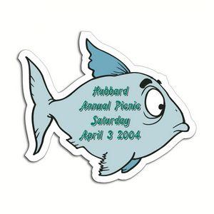 Custom Printed Fish Shaped Magnets