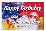 Custom Happy Birthday Stock Postcard (4