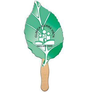 Custom Printed Leaf Stock Shaped Paper Fans