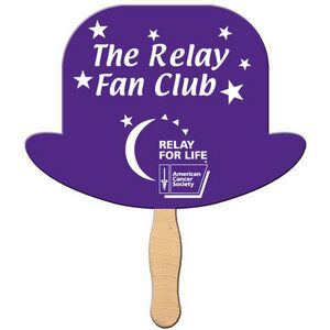 Custom Printed Derby Hat Stock Shaped Paper Fans