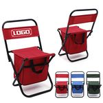 Custom Portable Outdoor Folding Cooler Chair With Bag