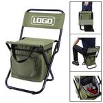 Custom Portable Outdoor Folding Chair With Cooler Bag