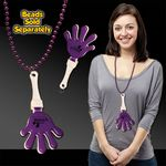 Purple & White Hand Clapper w/ Attached J Hook