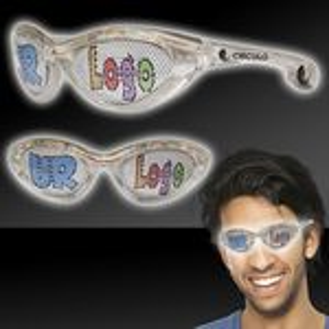 Custom White LED Billboard Sunglasses
