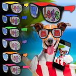 Assorted Custom Neon Billboard Sunglasses
