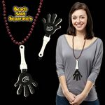 Black & White Hand Clapper w/ Attached J Hook