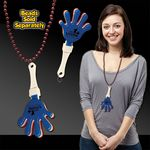 Red, White & Blue Hand Clapper w/ Attached J Hook