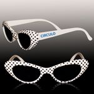 White Polka Dot Funky Children's Sunglasses