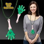 Green & White Hand Clapper w/ Attached J Hook