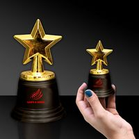 "5"" Plastic Gold Star Trophy"