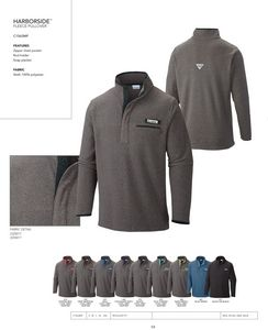 Columbia Mens Harborside Fleece 1/2 Zip Pullover - Blank